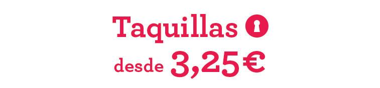 Taquillas en Zaragoza
