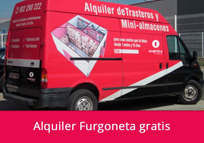 Alquiler de furgoneta gratis para tu mudanza