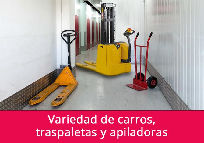 Carros, traspaletas y apiladoras para transportar tus objetos