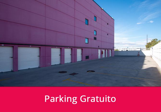 Parking gratuito en nuestras instalaciones