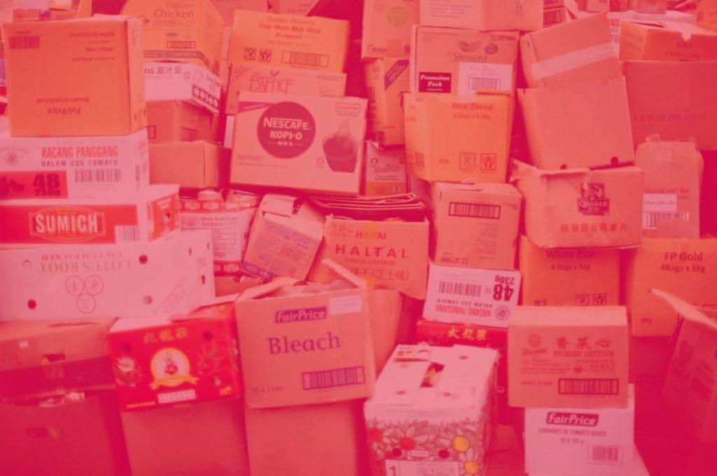 almacenamiento en cajas